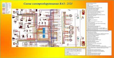 электрическая схема ваз 2121 нива