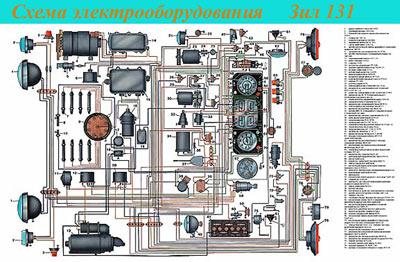 электрическая схема зил
